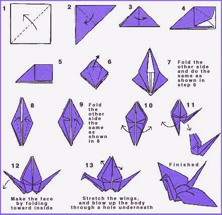 Origami un sobre con una grulla el gatito amarillo for How to make origami goose