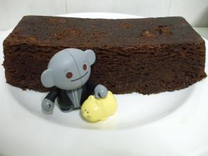 Mikan, el Señor Gris y el bizcocho de chocolate